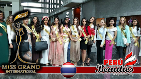Candidatas con bandas oficiales - Miss Grand International 2015