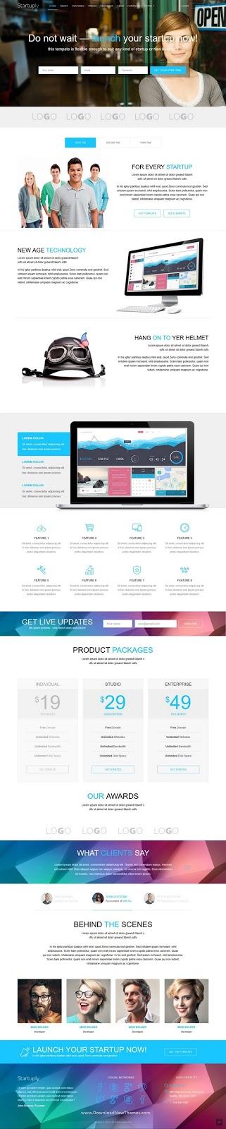 Responsive Multi-Purpose Landing Page