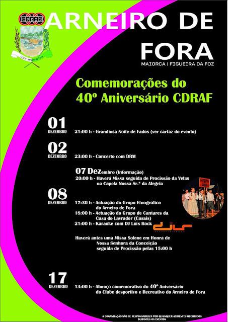 Comemoração do 40º Aniversário do CDRAF