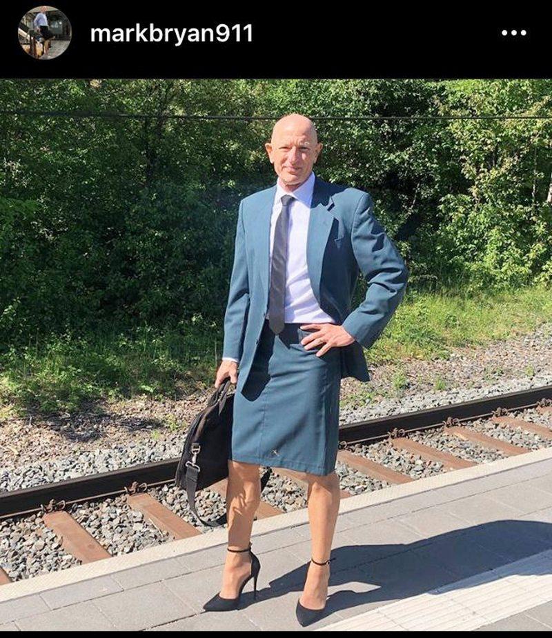Alemán que viste tacos y faldas