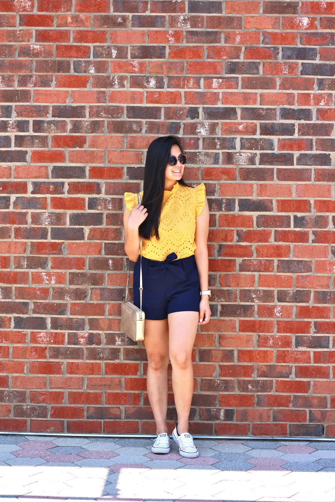 Yellow and Navy Summer Outfit - Affordable summer outfit - Amazon Prime Fashion Find