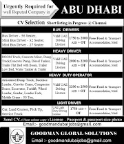 UAE JOBS : REQUIRED FOR A REPUTED COMPANY IN ABUDHABI .g