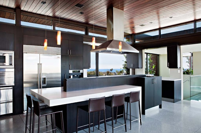 Black kitchen in the Modern Contemporary Ettley House