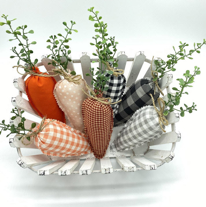Farmhouse Style Fabric Carrots
