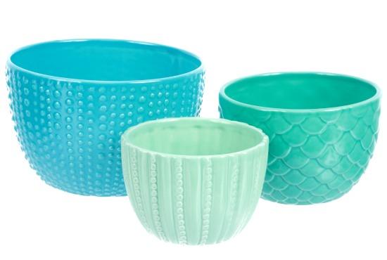 Sea Life Blue Ceramic Nesting Bowls