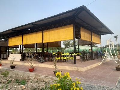 Mành tre trúc quán nhậu quán ăn