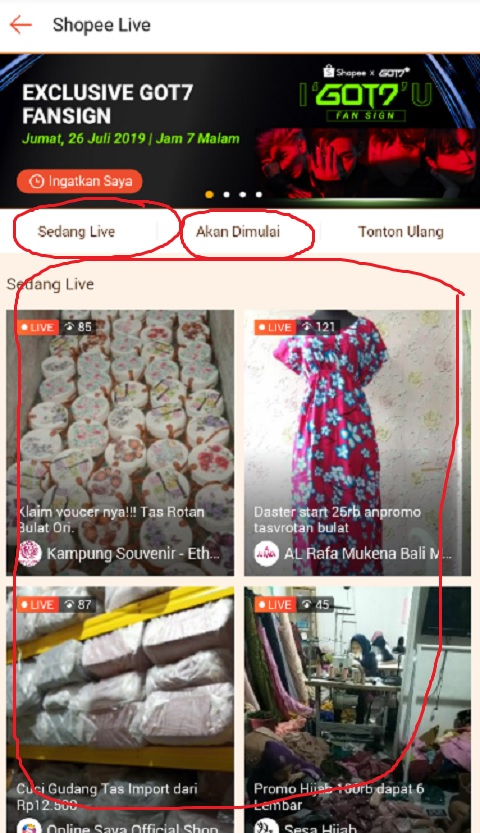 Nonton Live Streaming di Shopee