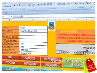 Aplikasi Daftar Hadir Plus Absensi Guru Format Excel Terbaru
