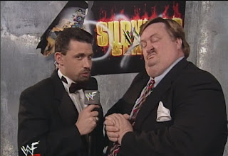 WWE / WWF Survivor Series 1998 Deadly Game - Michael Cole interviews Paul Bearer