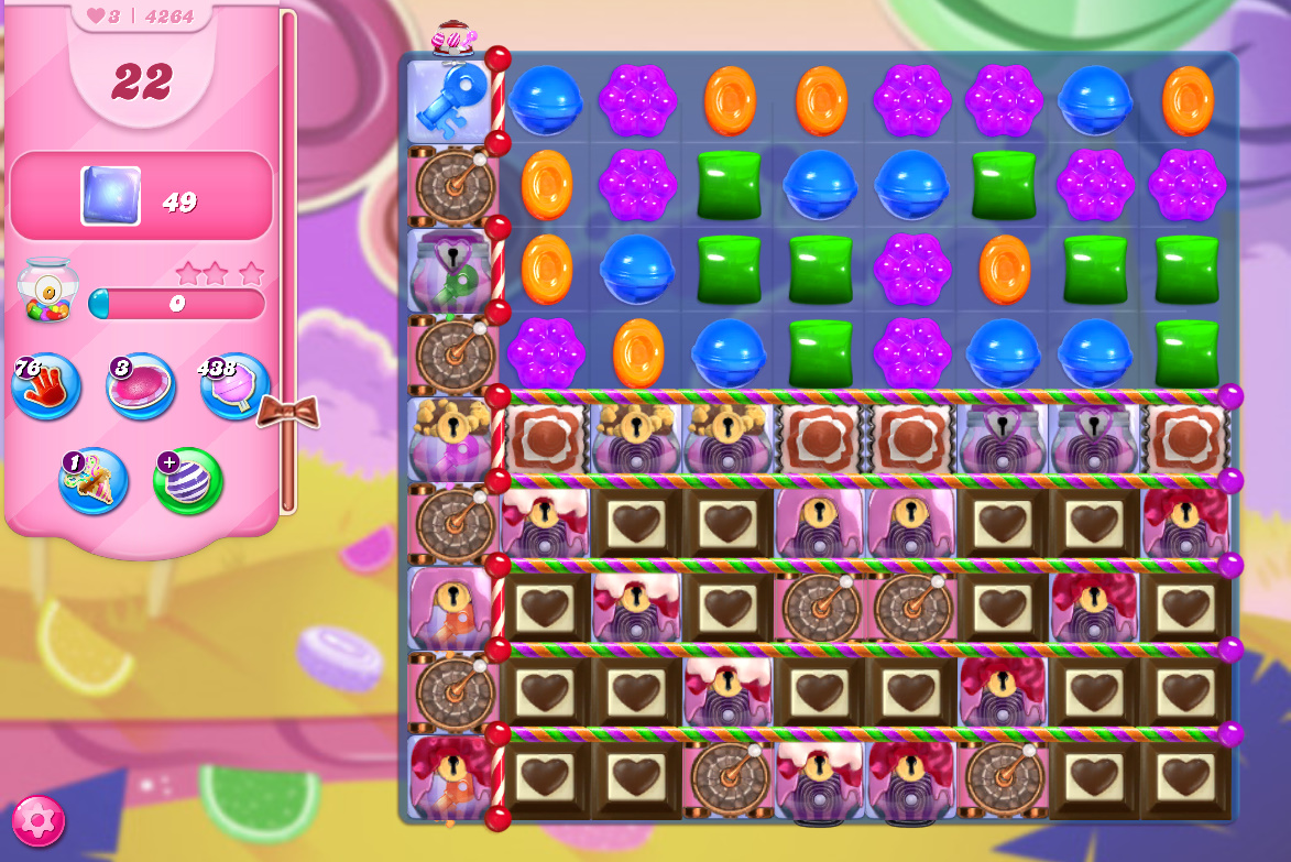Candy Crush Saga level 4264