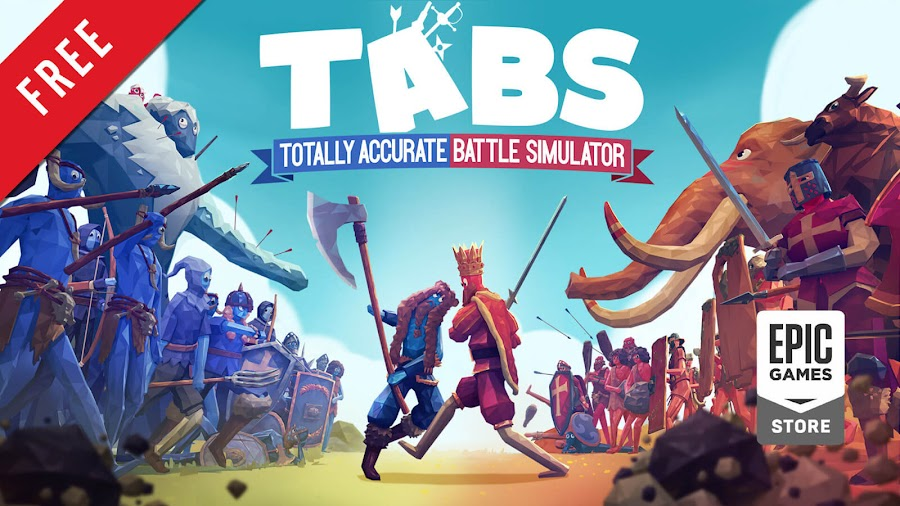 totally accurate battle simulator free pc game epic games store indie wacky ragdoll physics-based tactics battle simulation landfall games