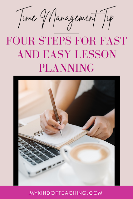 Time management tip. Four steps for fast and easy lesson planning