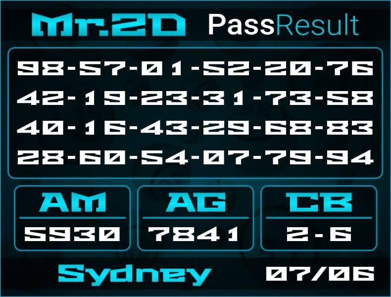 Mr.2D - Bocoran Togel Sydney