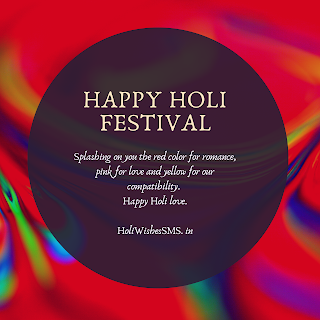 happy holi love messages