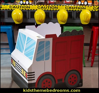 Construction Dump Truck Sit in Prop  Construction party ideas - construction party decorations - digger construction party props - Dump Truck Party Decorations - crane construction theme party - work truck decorations - Digger Zone Boys Birthday Party -