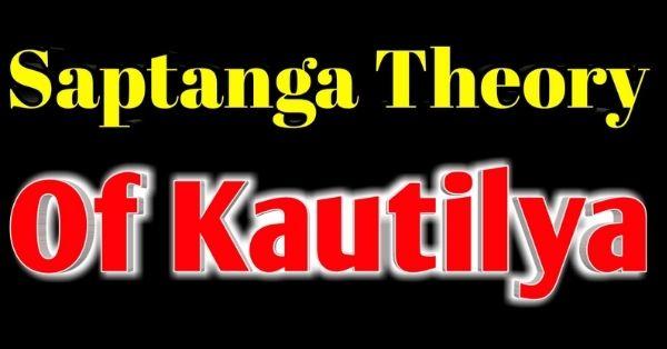 Kautilya's theory of state