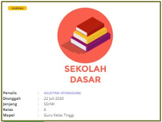 Download RPP Daring Guru Kelas 6 SD