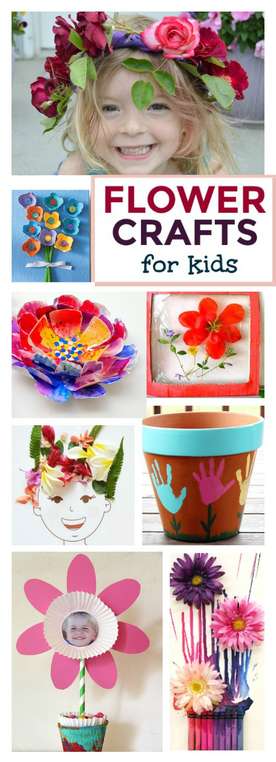50 FABULOUS FLOWER CRAFTS FOR KIDS TO MAKE THIS SPRING