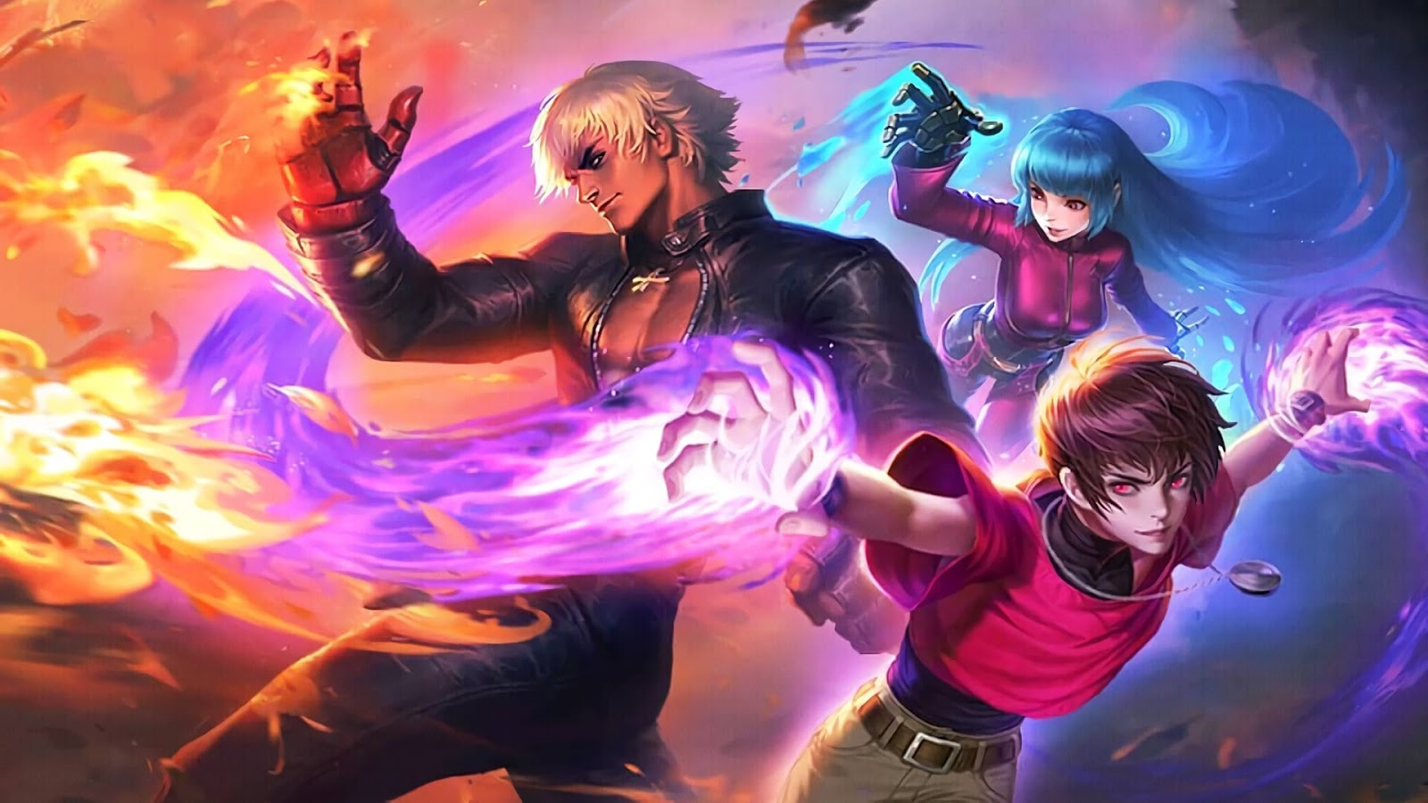 Wallpaper Gusion, Aurora, Dyrroth KOF Skin Mobile Legends HD for PC