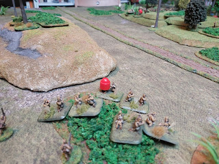 Japanese mortars lay down a barrage on the Australians