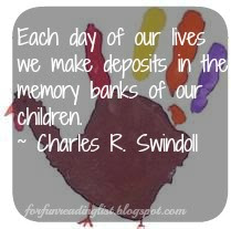 Deposits in our children's memory banks  {Rays of Grace & Joy}