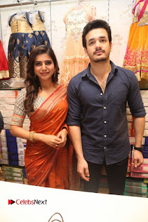 Actress Samantha Pictures in Saree at South India Shoping Mall Launch 0260