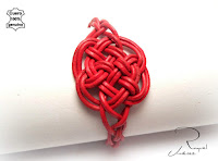 pulsera de cuero nudo celta del amor eterno