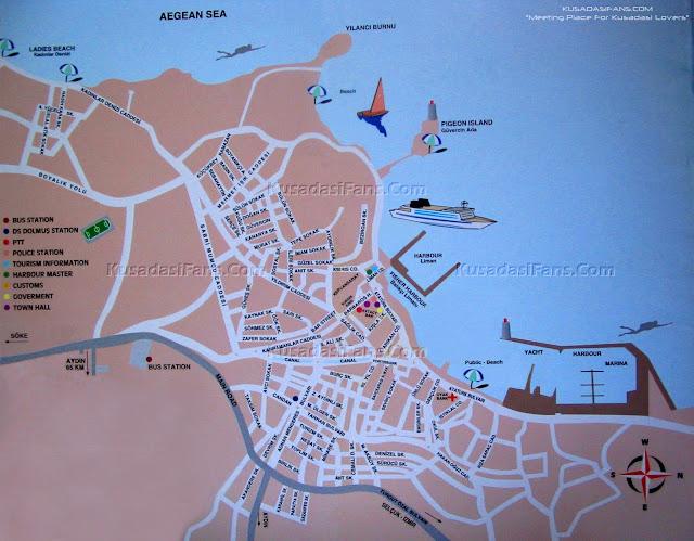 kuşadası map