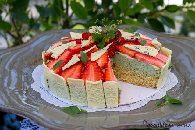 Miss Little Sunshine von Good Life in mind - Erdbeer-Basilikum-Mascarpone-Torte
