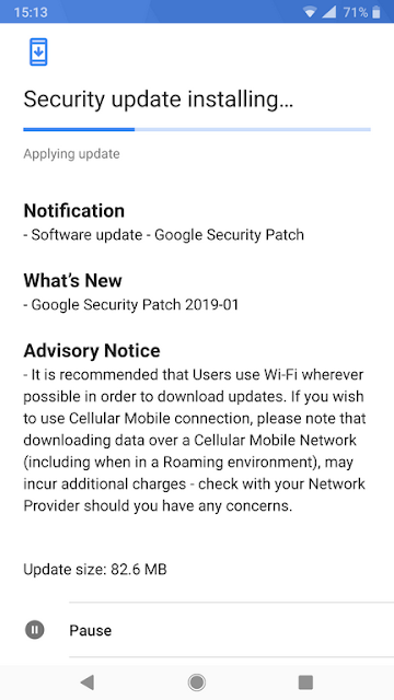 Nokia 8 Sirocco receiving January 2019 Android Security update
