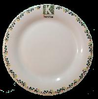 plato vacío de cerámica artística Cruz con logotipo de Kibini nutrition