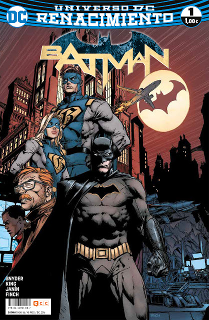 batman renacimiento 1 ecc ediciones tom king snyder finch janín