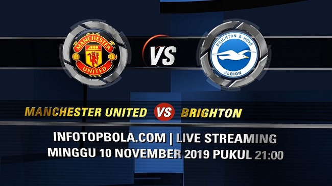 live streaming manchester united vs brighton