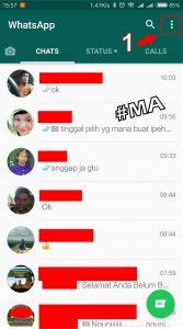 Klik Ikon Titik Tiga di Pojok Kanan Atas WhatsApp