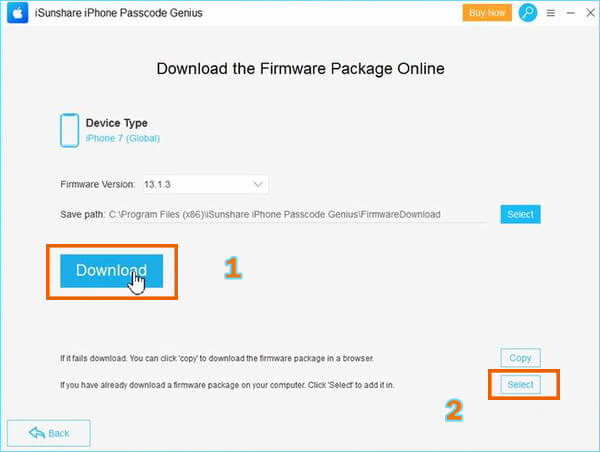 Get the firmware package