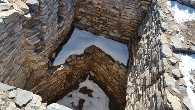 Ruins of Gran Quivira Salinas Pueblo Mission in Mountainair New Mexico