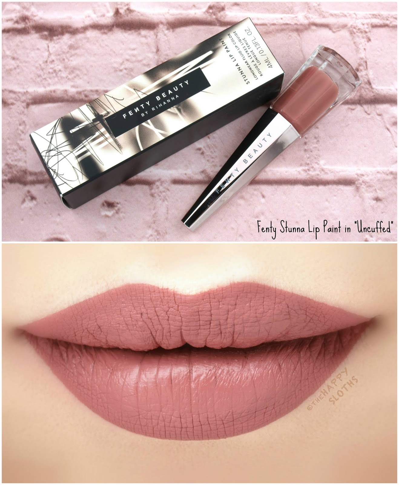 "Fenty Beauty by Rihanna | *NEW SHADES* Stunna Lip Paint in ""Uncuffed"": Review and Swatches"