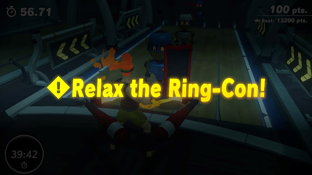 Ring Fit Adventure relax the Ring-Con Core Crushing Game Gym minigame