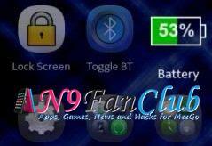 تحديث برنامج ايقونة البطارية Battery Icon 2.0 لـ n9