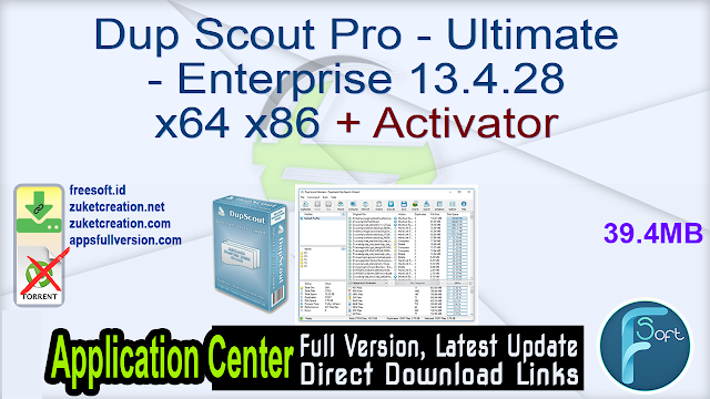 Dup Scout Pro – Ultimate – Enterprise 13.4.28 x64 x86 + Activator