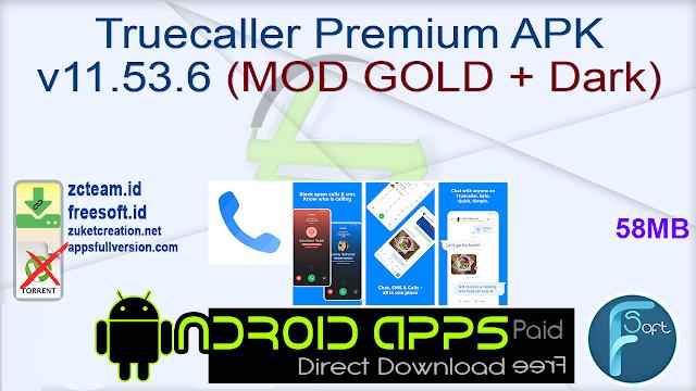 Truecaller Premium APK v11.53.6 (MOD GOLD + Dark)