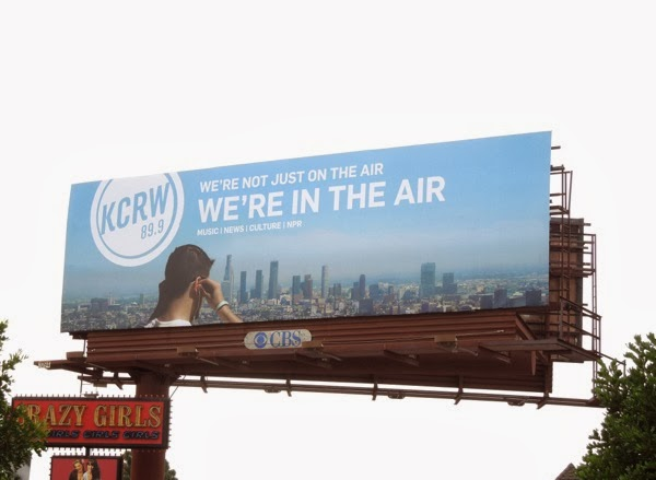 KCRW We're in the air radio billboard