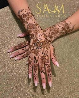 Back Arabic Mehndi Design