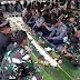 """""""Megibung"""" di Polres Badung, TNI dan Polri Tunjukan Kebersamaan Saat Syukuran Hari Bhayangkara"""