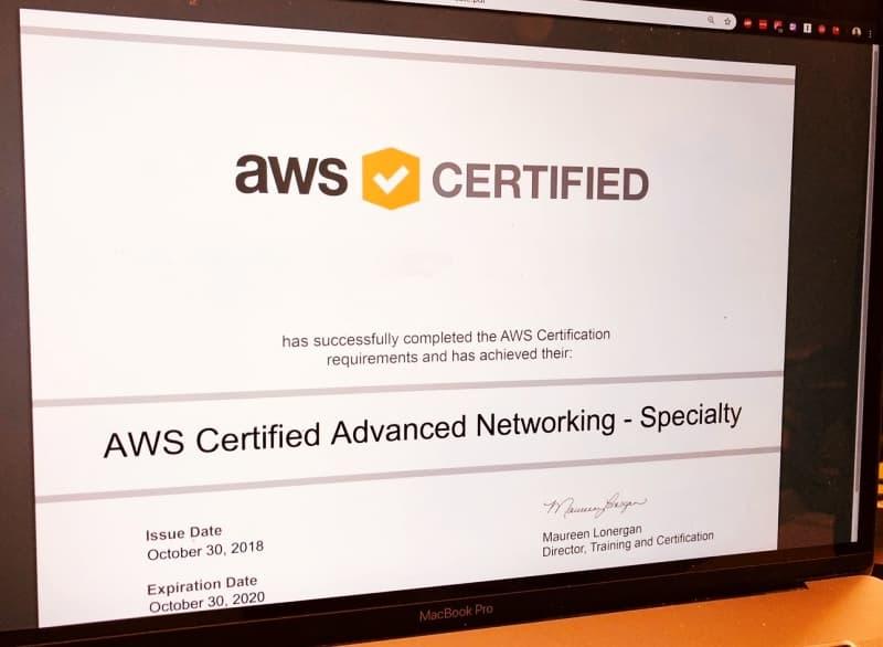 شهادة AWS Certified Advanced Networking