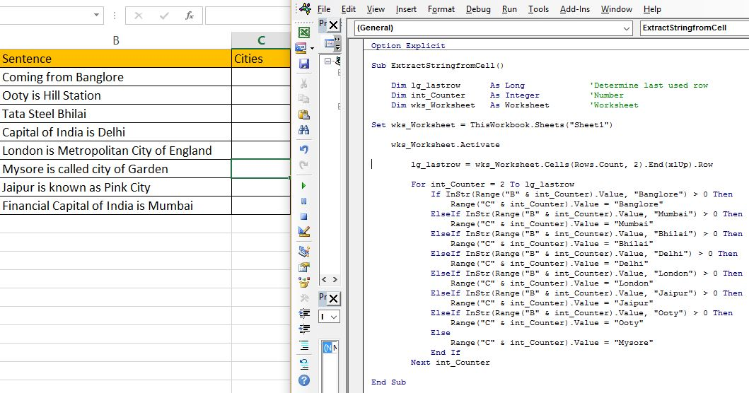 VBA - Extract Substring from String in Excel - Tactical ...