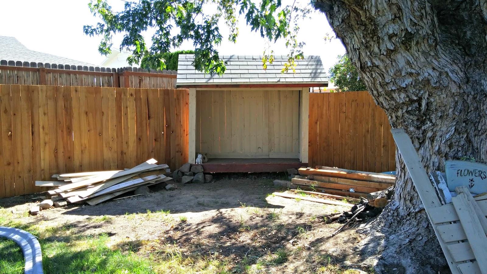 backyard pergola fix up weekend yard work series little