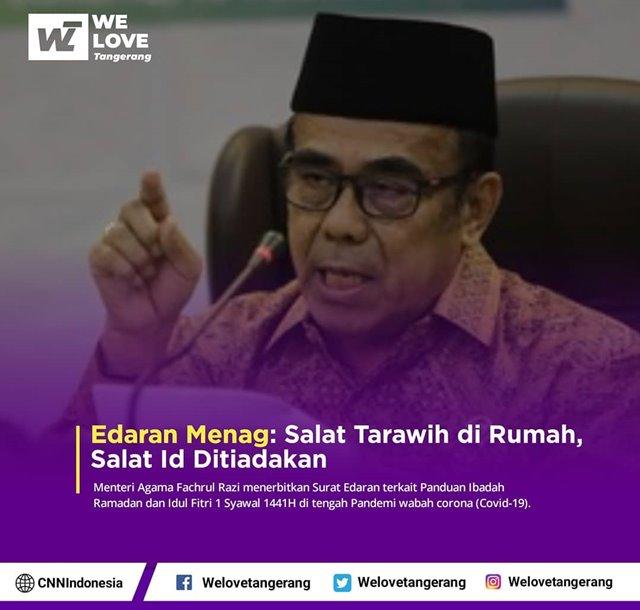 menteri Agama Larang Shalat Tarawih-IGwelovetangerang.id