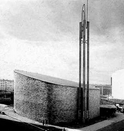 """El lib""""Arquitectura Religiosa de Vanguardia en España""""  Eduardo Delgado Orusco."""