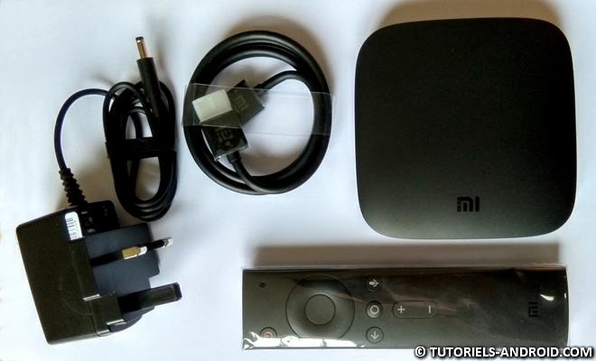 Xiaomi Mi Box 3 : contenu de la boite
